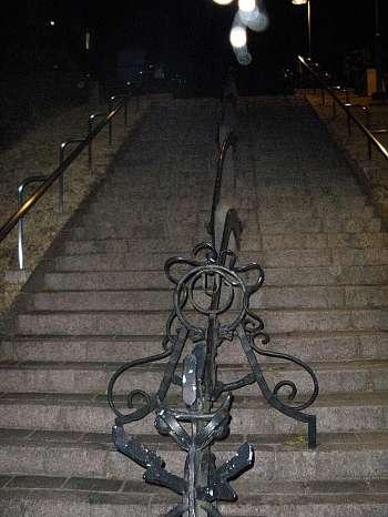南大沢の団地の階段