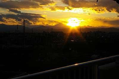 09年元旦の夕陽2