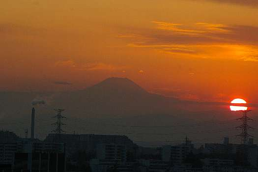 I夕陽富士