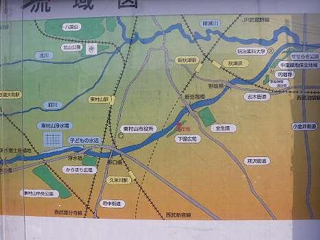 空堀川の地図