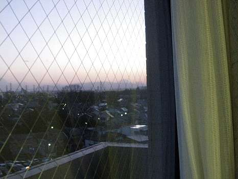 病院から見える富士