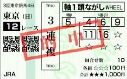 09目黒記念的中馬券