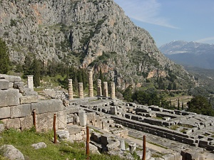 デルフィ遺跡、アポロンの神殿