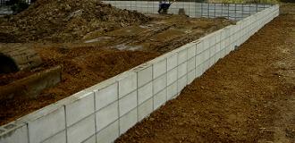 ブロック塀工事完成