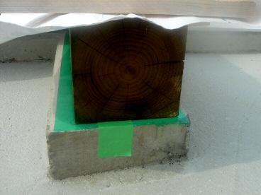 木工事(土台敷き)