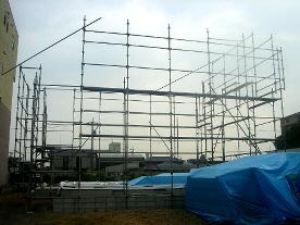 足場設置工事