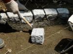 ピンコロ石を固定