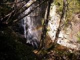 大倉の滝にかかる虹