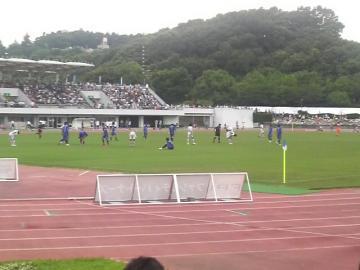 試合終了直後の光景。町田は精魂尽き果てたのか倒れ込む選手も・・・
