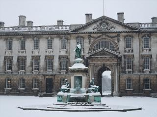 Kings college in snow