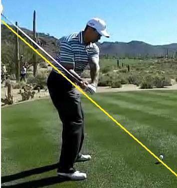 シャフトと肘、前腕が重なると必ずオンプレーン