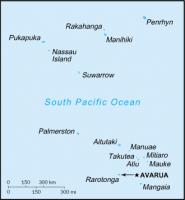 クック諸島地図