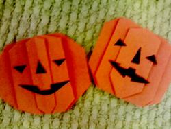 折り紙-かぼちゃ