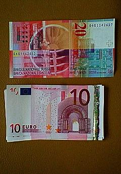↑スイスフラン ↓ユーロ