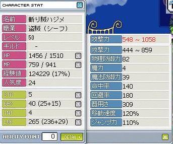 斬り賊ハジメ Lv50