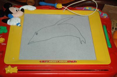 甥っ子が描いたイルカ
