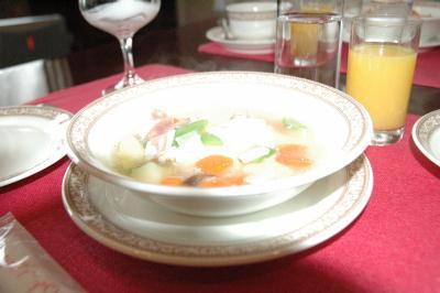 すんごくおいしかった半熟卵の野菜スープ
