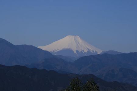 高尾山からの富士山