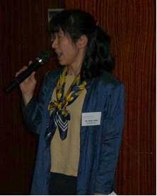第6回県プロジェクト共同委員会会議で挨拶する藤田さん