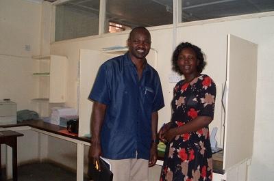 モンバサ研修に参加したカウンターパート、フランクリンさん・メアリーさん