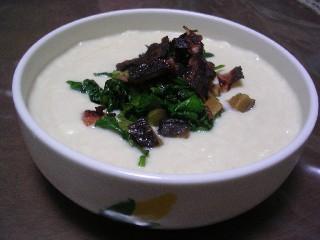 豆乳と豆腐のスープ