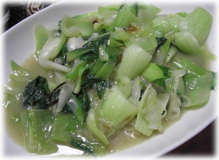 青梗菜炒め。