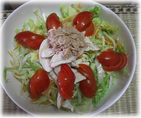 サラダうどん。