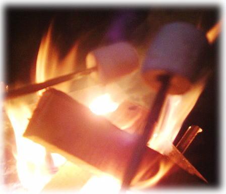 焼きマシュマロ。