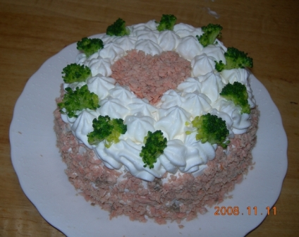 お手製のお誕生日ケーキ