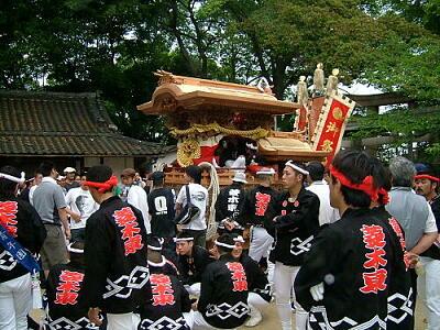 菱木神社境内
