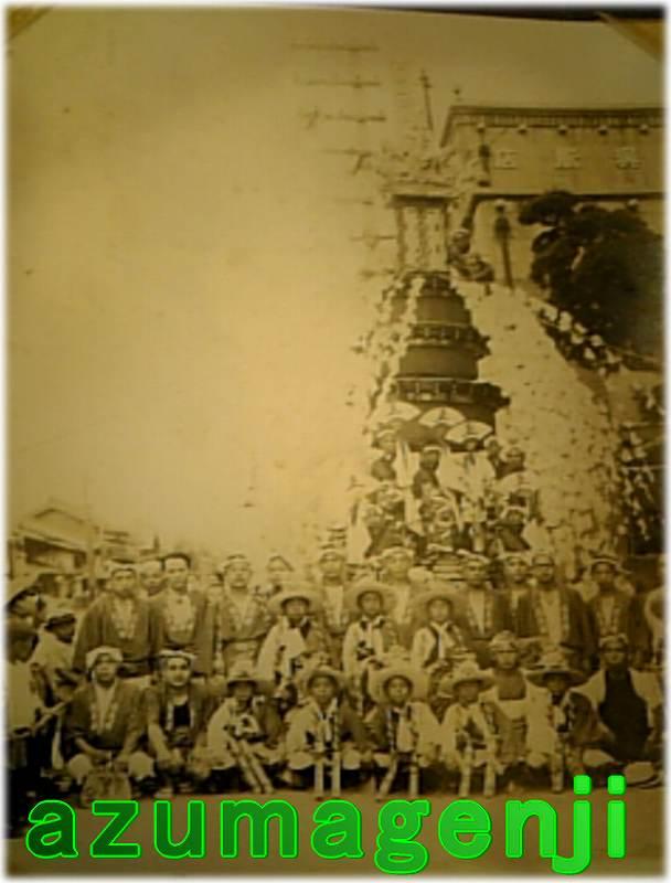 昭和20年代前半の上町笠鉾