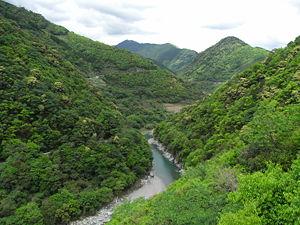 川辺川ダム建設予定地