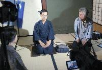 「川柳作家鶴彬」撮影中