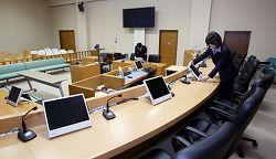 裁判員用に改修された法廷