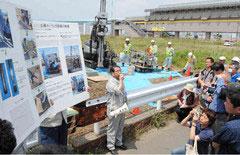 豊洲新市場予定地のボーリング調査