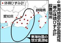 東海地震の想定震源域