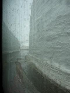 雪の壁・・・