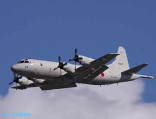 岐阜基地 P-3C 着陸態勢