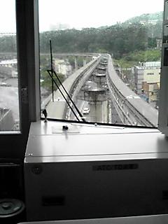 多摩モノレール先頭からの眺め