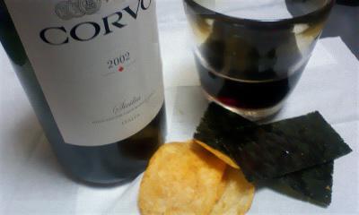 ワインと海苔