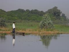 ニジェール川ほとり
