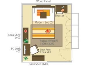 「憧れの書斎付きベッドルーム」