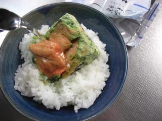 焼き鮭にお湯
