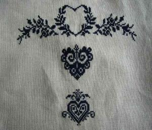ぺたんこバッグ刺繍