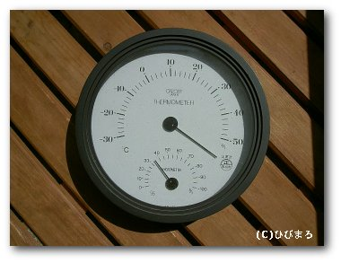 狂った温度計