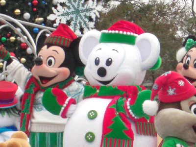 雪だるまとミッキー