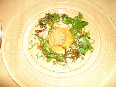 帆立貝のグリルと彩り野菜