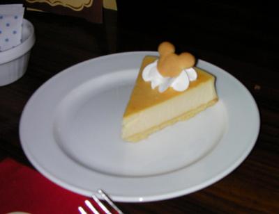 デザートはニューヨークスタイルチーズケーキ