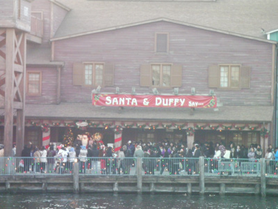 サンタとダッフィーのホリデーグリーティング