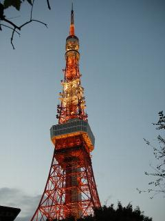 東京タワー☆ライトアップ後